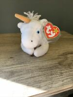 RARE Ty Beanie Baby Mystic the Unicorn (Gold, Yellow Horn) 1994, Style 4007