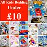 £10 or Less! Reduced Kids Bedding Single Disney Movie Duvet Set Girls Boys