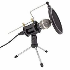 Condenser Microphone Pop YouTube Podcast Filter Tripod Stand Sound Mic Recording