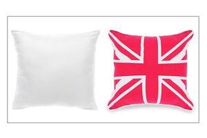 "Union Jack Cushion Cover | Fuchsia & White | 18"" x 18"" | 45 x 45 cm | Zipped | P"