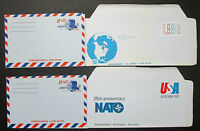 Postal History Stationery Set of 4 US Covers 18c GS Lupo USA Letters (H-10499 +
