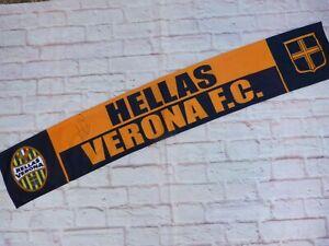 Echarpe satin HELLAS VERONE FC signed MIGUEL VELOSO foot ultra calcio Verona
