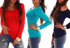 Camisa de mujer de manga larga de viscosa/rayón