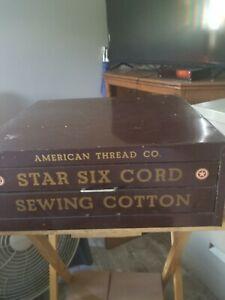 Vintage American Thread Company Metal Storage Cabinet