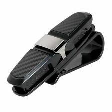 Universal Black Ticket Card Clamp Car Sun Visor Sunglasses Holder Clip