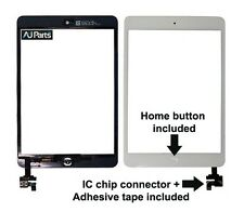 For iPad Mini 2 Touch Digitizer with IC Connector Flex Chip Assembly White panel