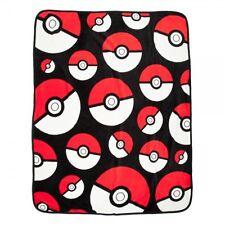 Pokemon Pokeball All Over Print 48in x 60in Micro Plush Throw Blanket
