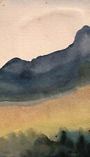 Ferdinand springer 1907-1998 grasse/aquarelle avec carte de voeux 1987/provence sign