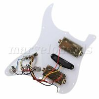 3-Ply Loaded Pickguard Scratch Plate White HSH for Electric Guitar