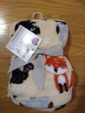 Parent's Choice Baby Blanket Woodland Fox Owl Acorn Infant Lovey Boys Girls NEW