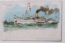 27362 Litho AK Hamburg Amerika Linie HAL Dampfer Prinzessin Heinrich 1909 ship