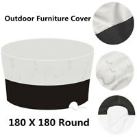 70'' Round Patio Table Cover Waterproof Outdoor Garden Furniture UV  AH