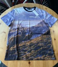 Stella McCartney Idol Wildlife Stag T-Shirt Martin Ridley Print Mens Med BNWT