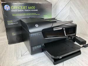 HP Officejet 6600 All-in-One Inkjet Printer Scanner Wireless - In Box - Working!