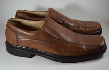 Bostonian Bolton Loafers Brown Leather Dress Shoes Bicycle Toe Men's 12M Slip-On