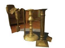 Brass Candlesticks Lot Of 6Patina Decor Vintage Weddings Random