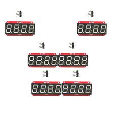 "6Pcs 4 Digit Seven-Segment 0.56"" LED Display Module HT16K33 I2C for Arduino"