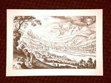 Innsbruck - Innschpruckh Austria Incisione di Merian Matthäus del 1640 Ristampa