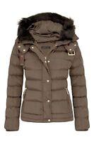 Womens Girls Warm Jacket Fur Outerwear Hood Winter Padded Coat Sizes UK 8-16