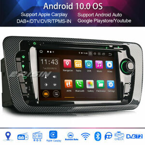 DAB+Android 10.0 Car Stereo for SEAT IBIZA WIFI Carplay Android Auto Bluetooth