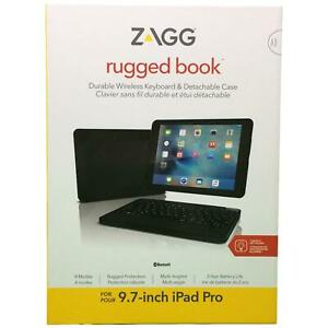 """ZAGG Rugged Book Durable Magnetic-Hinged Keyboard and Case for 9.7"""" iPad Pro"""