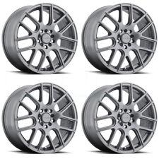 15x6.5 Vision 426 Cross 5x100 5x114.3 38 Gunmetal Wheels New Set(4)