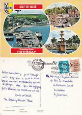 1985 MULTI VIEWS OF ROTHESAY ARGYLE & BUTE COLOUR POSTCARD