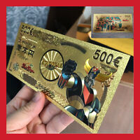BILLET TICKET FIGURINE GOLDORAK GRENDIZER ACTARUS MANGA CARTE COLLECTOR GOLD OR