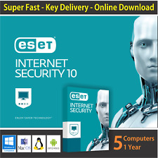 ESET Internet Security 2017, 5 Devices - 1 Year - Windows, Mac, Linux & Android