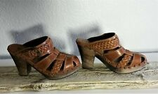 Frye Brown Leather Women's Clogs Made in Brazil  Size 7.5 B #324