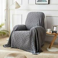 Recliner Chair Cover for Couch Sofa Covers Furniture Protector with Tassels Gift