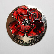 PIN BADGE RED POPPY UKRAINIAN SYMBOL MEMORY ANNIVERSARY 2 WORLD EUROPE