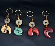 Lucky Chinese Coin Yin Yang Style Stone Key Chains