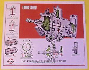 Affiche école scolaire Pompe d'injection C.A.V. A Distributeur Rotatif type DPA