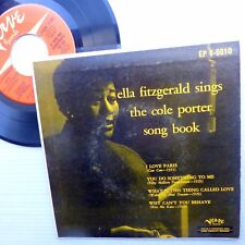 ELLA FITZGERALD picture sleeve 45 sings COLE PORTER song book EP Verve Jazz w976