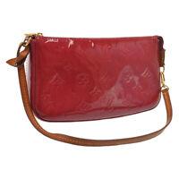 LOUIS VUITTON Vernis Pochette Accessoires Pouch Rose Indian M91574 6626