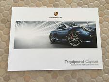 PORSCHE CAYMAN & CAYMAN S SERIES TEQUIPMENT PRESTIGE BROCHURE 2013 USA EDITION