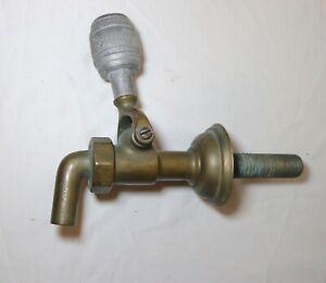 large rare antique solid brass Schmidt wine barrel beer spigot tap dispenser