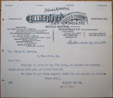 Bicycle 1897 Letterhead: Elastic Tip Co., Rubber Goods, Snell Cycle Fittings
