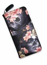 Liquorbrand Sakura Wallet Sugar Skull Gypsy Blossoms Alternative Gothic Purse
