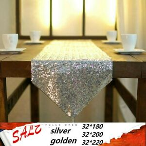 Sequin Beaded Table Runners Cloth Tablecloths Sparkled Shiny Wedding Party Decor