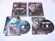 CALL OF DUTY: BLACK OPS 1 2 Playstation 3 game COMPLETE + MINT DISCS! Tested