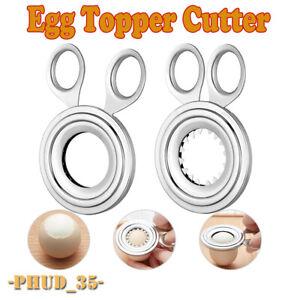 Boiled Egg Topper Shell Top Cutter Knocker Opener Stainless Breakfast Tool Raw