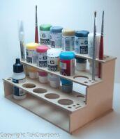 Model Paint Rack for Wargame Miniature Bottle Vallejo / Reaper Paints
