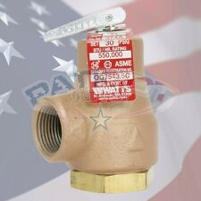 "NEW!! WATTS 374A 3/4"" BOILER PRESSURE RELIEF VALVE 3/4"" 30 PSI 0358553"