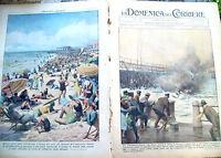 2) 1939 GHIACCIO SULLA LOIRA E SPIAGGIA AUSTRALIANA DOMENICA DEL CORRIERE