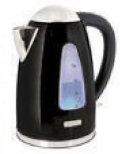 Lloytron E1506 1.7 Litre 3kw 360 Swivel Rapid Boil Cordless Kettle - Black Steel