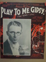 "song sheet PLAY TO ME GIPSY ""The song I love"" Henry Hall 1932"