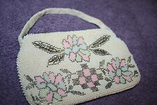 VINTAGE MICRO-BEADED BAG EXC. COND, MADE IN CZECHOSLOVAKIA