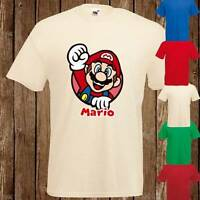Super Mario Nintendo Art Design Boys Girls T Shirt Tee